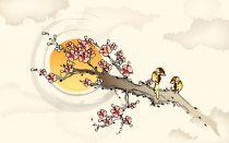 中国风简笔国画风格10张清晰大图